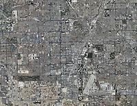 historical aerial photograph Las Vegas, Nevada, 2010