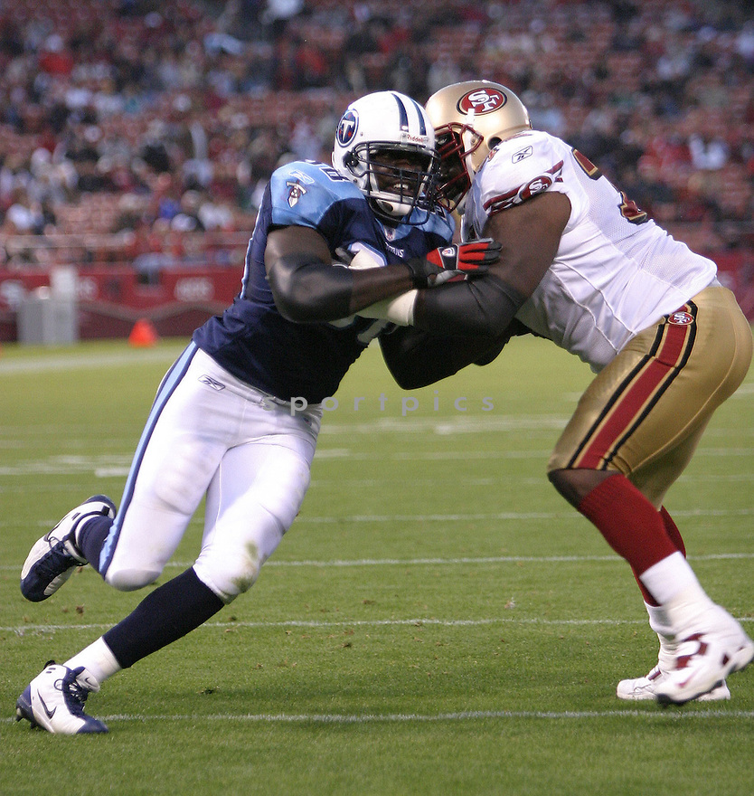 Antwan Odom, of the Tennessee Titans, during game action against San Francisco 49ers on August 26, 2005...49ers win 16-13...SportPics