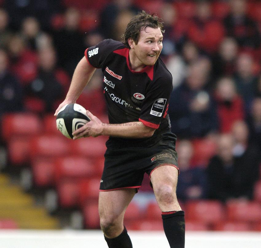 Photo: Jonathan Butler..Saracens v Gloucester Rugby. Guinness Premiership. 18/02/2007..Glen Jackson of Saracens.