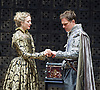 The Merchant of Venice <br /> by William Shakespeare <br /> at The Globe Theatre, London, Great Britain <br /> 25th April 2015 <br /> <br /> <br /> <br /> Daniel Lapping as Bassanio <br /> <br /> <br /> Rachel Pickup as Portia <br /> <br /> <br /> Photograph by Elliott Franks <br /> Image licensed to Elliott Franks Photography Services