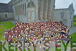 MONKS: Supporting and helping out were over 300 to 500 monks to break the Guinness World Record in Ardfert on Saturday eve.