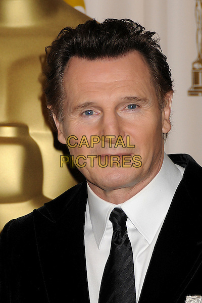 LIAM NEESON.81st Annual Academy Awards Press Room held at the Kodak Theatre, Hollywood, California, USA..February 22nd, 2009.oscars headshot portrait black tie .CAP/ADM/BP.©Byron Purvis/AdMedia/Capital Pictures.