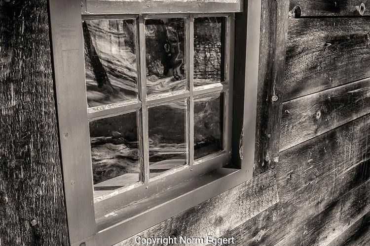 The Little House's window at Old Sturbridge Village