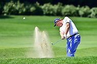 Bethesda, MD - June 26, 2016: Ernie Els (RSA) hits out of the sand on the fifth hole during Final Round of play at the Quicken Loans National Tournament at the Congressional Country Club in Bethesda, MD, June 26, 2016. (Photo by Philip Peters/Media Images International)