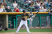 Ryan Jackson (5) of the Salt Lake Bees at bat against the Colorado Springs Sky Sox in Pacific Coast League action at Smith's Ballpark on May 24, 2015 in Salt Lake City, Utah.  (Stephen Smith/Four Seam Images)