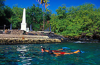 snorkeling near the Captain Cook Monument, Kealakekua Bay