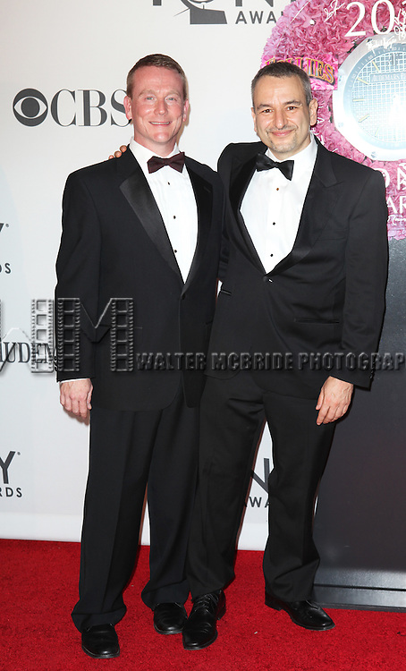 Joe DiPietro and Guest pictured at the 66th Annual Tony Awards held at The Beacon Theatre in New York City , New York on June 10, 2012. © Walter McBride / WM Photography