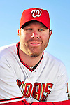 28 February 2010: Washington Nationals first baseman Adam Dunn poses for his Spring Training photo at Space Coast Stadium in Viera, Florida. Mandatory Credit: Ed Wolfstein Photo