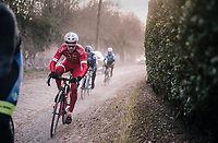 gravel over cobbles<br /> <br /> 50th GP Samyn 2018<br /> Quaregnon &gt; Dour: 200km (BELGIUM)