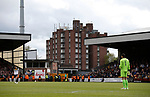 A block of flat overlooks Vale Park during the English League One match at Vale Park Stadium, Port Vale. Picture date: April 14th 2017. Pic credit should read: Simon Bellis/Sportimage