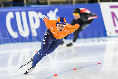 January 29th 2017, Sportforum, Berlin, Germany; ISU Speed Skating World Cup;  ISU Speed Skating World Cup 1000m Division A; Kai Verbij (NED)