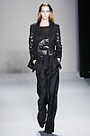 Alana Zimmer walks the runway in a Nicole Miller Fall 2011 outfit, during Mercedes-Benz Fashion Week.