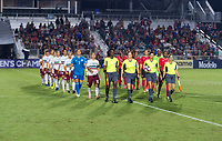 Cary, NC - October 7, 2018:  Mexico defeated Trinidad & Tobago 4-1 during the group stage of the 2018 CONCACAF Women's Championship at WakeMed Soccer Park.