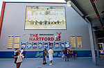 HARTFORD,  CT-071818JS20--Fans make their way past the startling line up board, presented by The Hartford during the Yard Goat's game against Reading on Wednesday afternoon at Dunkin Donuts Park in Hartford.<br /> Jim Shannon Republican American