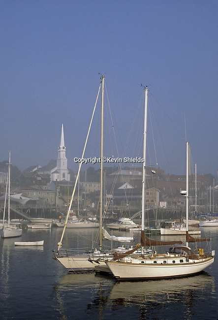 Harbor scene in Camden, Maine, USA
