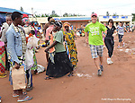.Randy Wilson of the  Kigali Hash runners and walkers mapped out the run and walk that began at a bustling Saturday market.