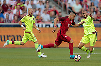 Sandy, UT - Saturday June 3, 2017: The U.S. Men's National team go down 0-1 to Venezuela in an international friendly tune up match leading up to their WCQ Hex games at Rio Tinto Stadium.