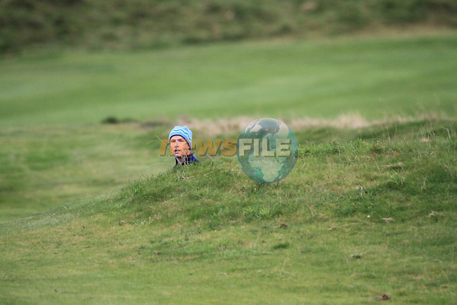 Day one of the Irish PGA championship at Seapoint Golf Club,.Peter Martin Riverside Golf Academy on the 18th..Picture Fran Caffrey/www.golffile.ie.