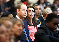 11 March 2016 - London, England - Prince William Duke of Cambridge and Princess Kate visit the mentoring programme of the XLP project  which supports young people who are facing emotional, behavioral and relational challenges in London. Photo Credit: ALPR/AdMedia