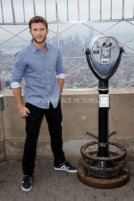 WWW.ACEPIXS.COM<br /> April 9, 2015 New York City<br /> <br /> Scott Eastwood from the movie &quot;The Longest Ride&quot; at the Empire State Building observatory on April 9, 2015 in New York City. <br /> <br /> By Line: Kristin Callahan/ACE Pictures<br /> ACE Pictures, Inc.<br /> tel: 646 769 0430<br /> Email: info@acepixs.com<br /> www.acepixs.com