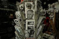 Predappio. Gadget fascisti in un negozzio di souvenir a Predappio dove si trova la tomba di Benito Mussolini