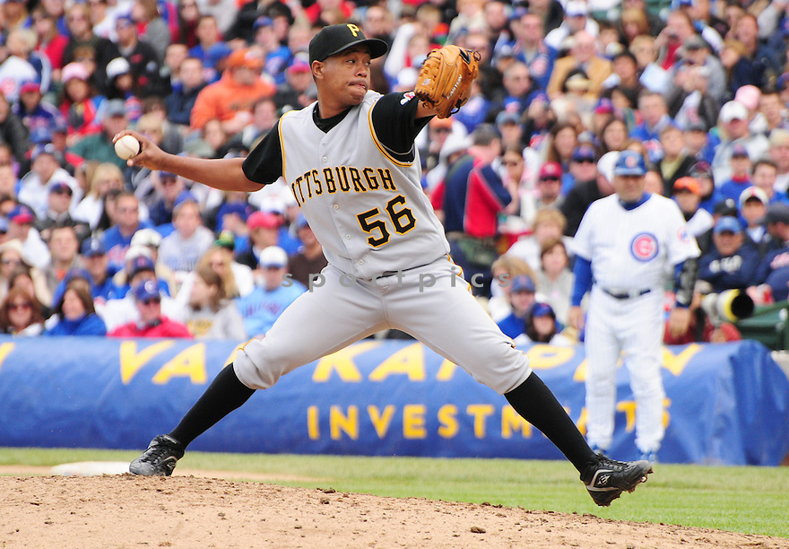 MARION SALAS, of the Pittsburgh Pirates ,in action against the Chicago Cubs  during the Pirates game in Chicago, IL on May 18, 2008 The Cubs won the game 4-3.