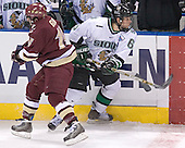 Stephen Gionta, Zach Jones - The Boston College Eagles defeated the University of North Dakota Fighting Sioux 6-5 on Thursday, April 6, 2006, in the 2006 Frozen Four afternoon Semi-Final at the Bradley Center in Milwaukee, Wisconsin.