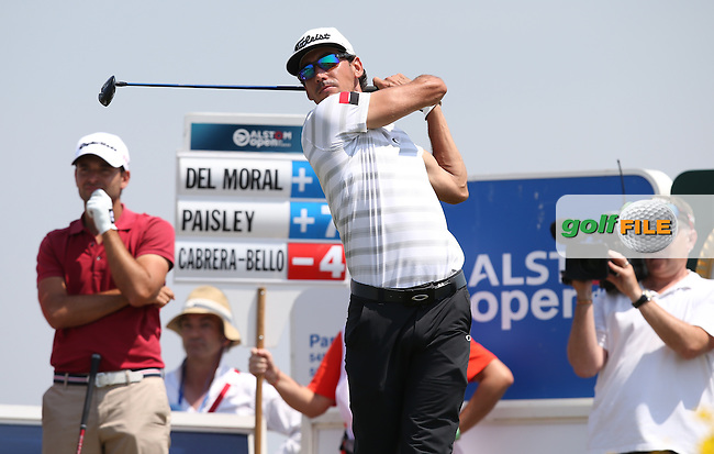 Rafa Cabrera-Bello (ESP) birdies the 8th to remain the leader (-4) at lunch during Round Two of the 2015 Alstom Open de France, played at Le Golf National, Saint-Quentin-En-Yvelines, Paris, France. /03/07/2015/. Picture: Golffile | David Lloyd<br /> <br /> All photos usage must carry mandatory copyright credit (&copy; Golffile | David Lloyd)