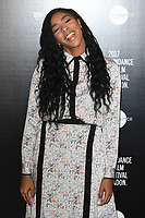 Jessica Williams at the Sundance Film Festival: London opening photocall at Picturehouse Central, London.<br /> 01 June  2017<br /> Picture: Steve Vas/Featureflash/SilverHub 0208 004 5359 sales@silverhubmedia.com