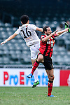 Auckland City Defender Daewook Kim (l) trips up with FC Seoul Forward Dejan Damjanovic (r) during the 2017 Lunar New Year Cup match between Auckland City FC (NZL) vs FC Seoul (KOR) on January 28, 2017 in Hong Kong, Hong Kong. Photo by Marcio Rodrigo Machado/Power Sport Images