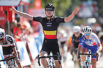 Jolien D'hoore (BEL) Wiggle High5 wins the Madrid Challenge by La Vuelta was ridden over 87km, with 15 laps on a 5.8km route around the iconic Plaza Cibeles, Madrid, Spain. 10th September 2017.<br /> Picture: Unipublic/&copy;photogomezsport | Cyclefile<br /> <br /> <br /> All photos usage must carry mandatory copyright credit (&copy; Cyclefile | Unipublic/&copy;photogomezsport)