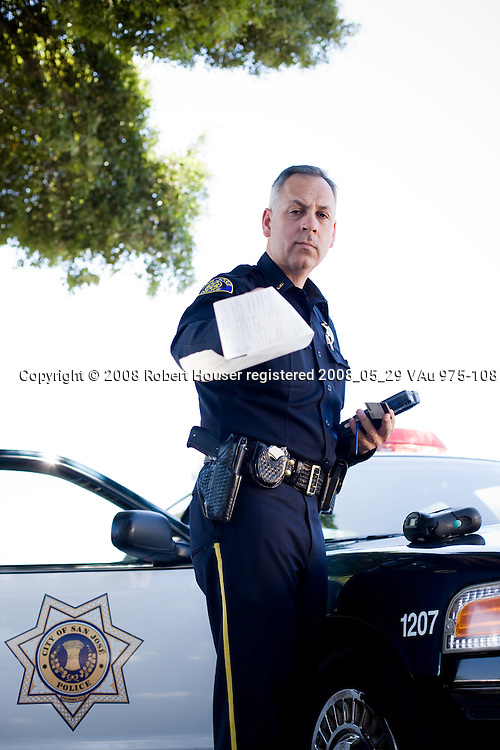 Lt. Ruben Chavez - San Jose Police Department: Executive portrait photographs by San Francisco - corporate and annual report - photographer Robert Houser.