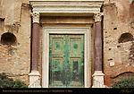Temple of Romulus original Bronze Doors and Porphyry Columns Forum Romanum Rome