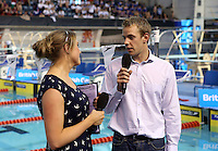 PICTURE BY VAUGHN RIDLEY/SWPIX.COM - Swimming - ASA National County Team Championships 2012 - Ponds Forge, Sheffield, England - 21/10/12 - Cassie Patten and Ross Davenport.