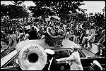 President Gerald Ford campaigning for re-election. New Orleans, Louisiana, September, 1976