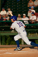 April 26 2010: Brett Jackson (13) of the Daytona Beach Cubs during a game vs. the Lakeland Flying Tigers at Jackie Robinson Ballpark in Daytona Beach, Florida. Daytona, the Florida State League High-A affiliate of the Chicago Cubs, won the game against Lakeland, affiliate of the Detroit Tigers, by the score of 3-1  Photo By Scott Jontes/Four Seam Images