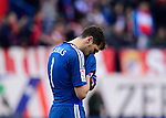 Real Madrid's goalkeeper and captain Iker Casillas during the Spanish league football match Club Atletico de Madrid vs Real Madrid CF at the Vicente Calderon stadium in Madrid on February 7, 2015.          PHOTOCALL3000/ DP