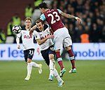 West Ham's Jose Fonte tussles with Tottenham's Harry Kane during the Premier League match at the London Stadium, London. Picture date: May 5th, 2017. Pic credit should read: David Klein/Sportimage