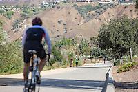 Biking on Trail in Yorba Linda California