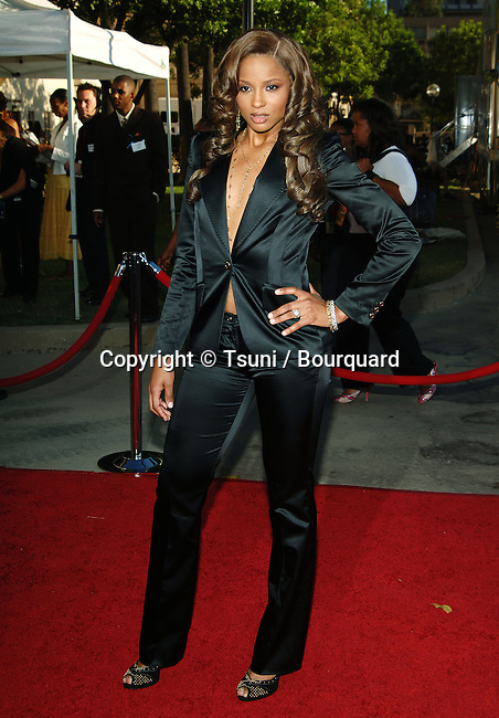 Ciera arriving at the Soul Train, Lady Of Soul at the Pasadena Auditorium in Los Angeles. September 7, 2005