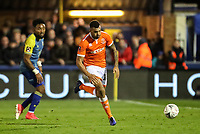 Blackpool's Curtis Tilt breaks<br /> <br /> Photographer Andrew Kearns/CameraSport<br /> <br /> The Emirates FA Cup Second Round - Solihull Moors v Blackpool - Friday 30th November 2018 - Damson Park - Solihull<br />  <br /> World Copyright © 2018 CameraSport. All rights reserved. 43 Linden Ave. Countesthorpe. Leicester. England. LE8 5PG - Tel: +44 (0) 116 277 4147 - admin@camerasport.com - www.camerasport.com
