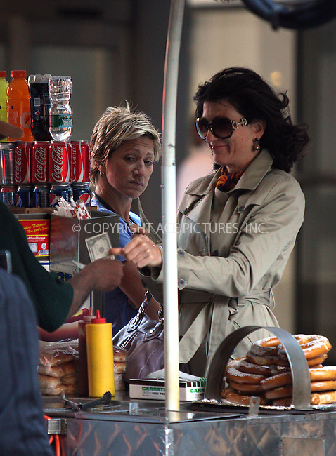 WWW.ACEPIXS.COM . . . . .  ....September 25 2009, New York City....Actresses Edie Falco and Eve Best on the Manhattan set of the TV show 'Nurse Jackie' on September 25 2009 in New York City....Please byline: AJ Sokalner - ACEPIXS.COM.... *** ***..Ace Pictures, Inc:  ..(212) 243-8787 or (646) 769 0430..e-mail: picturedesk@acepixs.com..web: http://www.acepixs.com