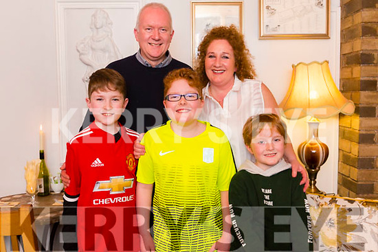 Harry Rusk celebrating a big 10th birthday in Bella Bia on Saturday night last with his family, front l-r, Jack, Harry and Paddy Rusk. Back l-r, Robert Rusk and Brid McElligott-Rusk.