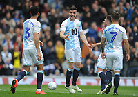 Blackburn Rovers' Darragh Lenihan celebrates scoring the opening goal with team-mates<br /> <br /> Photographer Kevin Barnes/CameraSport<br /> <br /> The EFL Sky Bet Championship - Blackburn Rovers v Swansea City - Sunday 5th May 2019 - Ewood Park - Blackburn<br /> <br /> World Copyright © 2019 CameraSport. All rights reserved. 43 Linden Ave. Countesthorpe. Leicester. England. LE8 5PG - Tel: +44 (0) 116 277 4147 - admin@camerasport.com - www.camerasport.com