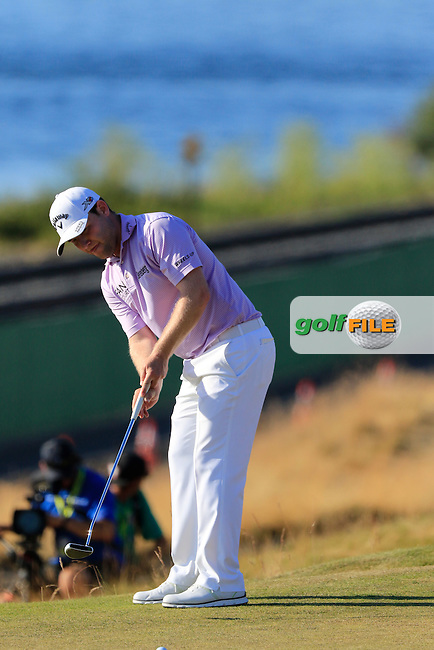 Branden GRACE (RSA) putts from the edge of the 16th green  during Sunday's Final Round of the 2015 U.S. Open 115th National Championship held at Chambers Bay, Seattle, Washington, USA. 6/22/2015.<br /> Picture: Golffile | Eoin Clarke<br /> <br /> <br /> <br /> <br /> All photo usage must carry mandatory copyright credit (&copy; Golffile | Eoin Clarke)