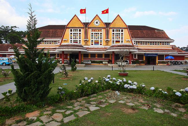 Train station. Dalat, Vietnam. April 20, 2016.