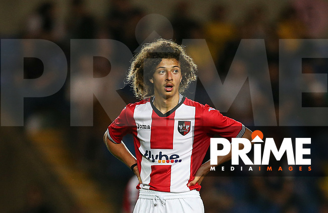 Ethan Ampadu of Exeter City during the The Checkatrade Trophy match between Oxford United and Exeter City at the Kassam Stadium, Oxford, England on 30 August 2016. Photo by Andy Rowland / PRiME Media Images.