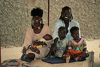Gouré, Niger. A Fulani Family.