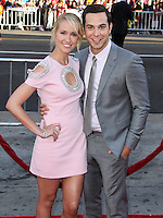 HOLLYWOOD, LOS ANGELES, CA, USA - JUNE 17: Actors Anna Camp and Skylar Astin arrive at the Los Angeles Premiere Of HBO's 'True Blood' Season 7 held at the TCL Chinese Theatre on June 17, 2014 in Hollywood, Los Angeles, California, United States. (Photo by Xavier Collin/Celebrity Monitor)