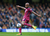 30th September 2017, Stamford Bridge, London, England; EPL Premier League football, Chelsea versus Manchester City; Fabian Delph of Manchester City with a volley shot for goal in the first half
